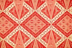 Традиционная картина саронга батика Стоковые Фотографии RF