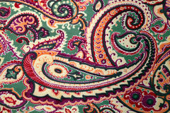 Традиционная предпосылка шелка картины Пейсли Стоковые Фото