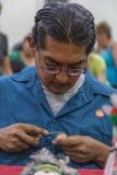 Традиционная работа показа художника куклы Kachina Hopi Стоковая Фотография