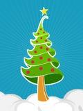 Традиционная рождественская елка Иллюстрация вектора