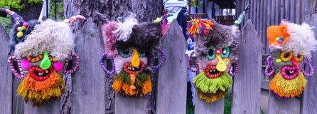 Традиционная румынская маска Стоковая Фотография RF