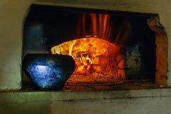 Традиционная русская печь стоковое изображение rf