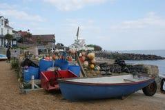 Традиционная рыбацкая лодка используемая для удить для омаров и крабов Стоковые Фото