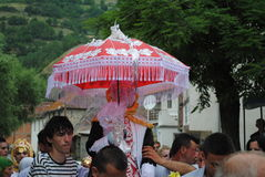 Традиционная свадьба, зона Gora, южное Косово Стоковые Изображения