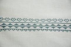 Традиционная скатерть вышивки Словакии Стоковые Фотографии RF
