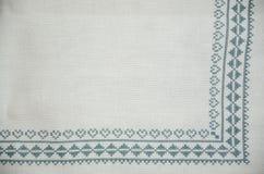 Традиционная скатерть вышивки Словакии Стоковые Фото
