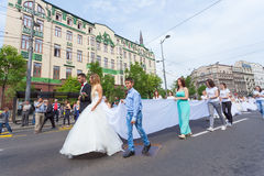 Традиционная совместная свадебная церемония в Белграде Стоковое Изображение