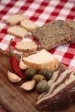 Традиционная среднеземноморская еда Стоковая Фотография RF