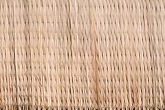 Традиционная тайская камышовая текстура циновки Стоковое Изображение