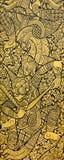 Традиционная тайская картина стоковое изображение rf