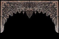 Традиционная тайская древесина стиля высекая для isol внутреннего художественного оформления Стоковые Изображения