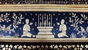 Традиционная тайская стенная роспись Стоковое Изображение