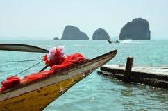 Тайская шлюпка на море Andaman Стоковые Изображения RF