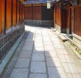 Традиционная улица в Киото Стоковые Фото