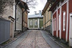 Традиционная финская улица Стоковые Фотографии RF