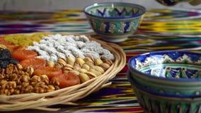 Традиционная церемония чая в Самарканде, Узбекистане, видео hd акции видеоматериалы