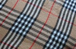 Традиционная шотландка тартана Стоковая Фотография