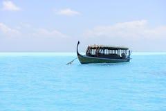 Традиционная шлюпка Dhoni в Мальдивах Стоковые Фото