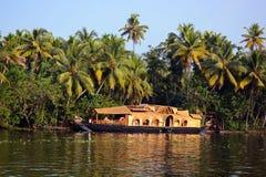 Традиционная шлюпка Ketuvallam риса Стоковые Фотографии RF