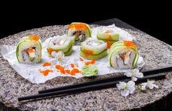 Традиционная японская кухня, крен суш Стоковая Фотография RF