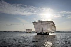 Традиционная японская рыбацкая лодка siail Стоковые Изображения