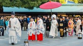 Традиционная японская свадебная церемония Стоковые Изображения RF