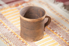 Традиционная handcrafted кружка Стоковые Фото