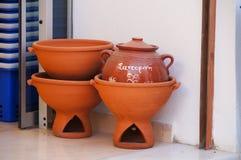 Традиционное греческое украшение гончарни на Santorini Стоковые Изображения RF