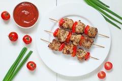 Традиционное зажаренное в духовке барбекю протыкальника kebab индюка Стоковая Фотография RF