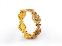 традиционное золота bangles индийское Стоковые Фото