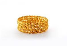 традиционное золота bangles индийское Стоковая Фотография RF