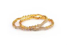 традиционное золота bangles индийское Стоковое фото RF