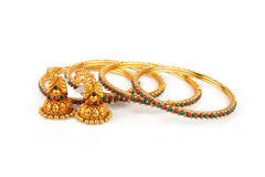 традиционное золота bangles индийское Стоковое Изображение RF