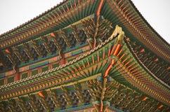 традиционное зодчества корейское Стоковые Изображения RF
