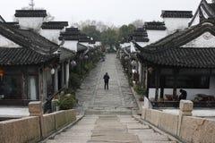 Традиционное здание и мост в южном озере (Jiaxing) Стоковые Изображения