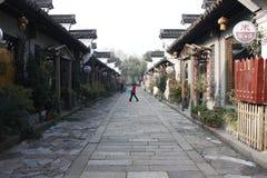 Традиционное здание и мост в южном озере (Jiaxing) Стоковое Изображение