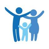 Традиционное изображение значка семьи Стоковые Фотографии RF