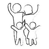 Традиционное изображение значка семьи иллюстрация вектора