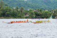 Традиционное длинное huahin 2013 toa koa гонок шлюпки Стоковые Фотографии RF
