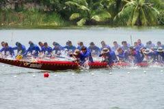 Традиционное длинное huahin 2013 toa koa гонок шлюпки Стоковое Фото