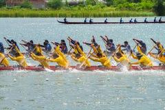 Традиционное длинное huahin 2013 toa koa гонок шлюпки Стоковые Изображения