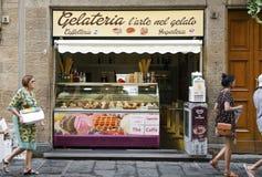 Традиционное итальянское gelateria Стоковые Фото