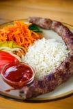 Традиционное кавказское kebab Стоковая Фотография