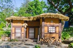 Традиционное корейское село. Стоковое Изображение RF