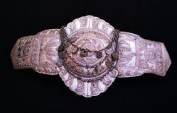 Традиционное македонское украшение пряжки пояса Стоковая Фотография