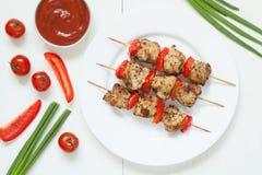 Традиционное мясо барбекю протыкальника kebab индюка с Стоковая Фотография RF