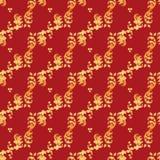 традиционное орнамента русское золотистая картина безшовная Стоковые Фотографии RF