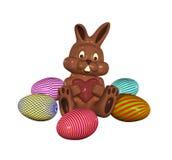 традиционное пасхи шоколада зайчика сладостное Стоковые Изображения