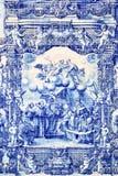 Традиционное португальское azulejo tilework Стоковая Фотография