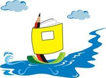 Традиционное плавание сделанное из книги и карандаша Стоковые Изображения